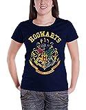 Harry Potter T Shirt Hogwarts Crest Oficial De las mujeres nuevo Azul Skinny Fit