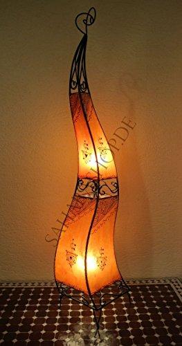 Saharashop Marrakesch Henna - Lámpara de pie (130 cm), diseño oriental, color naranja