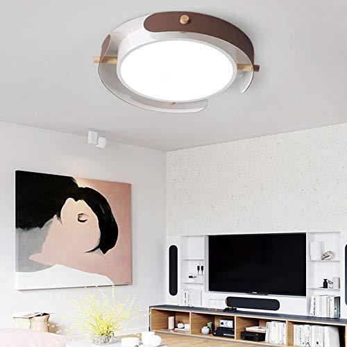 ETH Modern Wit Metaal Lichaam Circulaire Plafond Lamp Voor Woonkamer Slaapkamer Eetkamer Acryl Lampenkap 3 Kleur Dimmen Licht Led Flush Mount Plafond Licht Diameter 40cm / 50cm elegant
