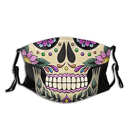 Máscara facial mexicana de calavera M-A-S-K, cómodo pasamontañas...