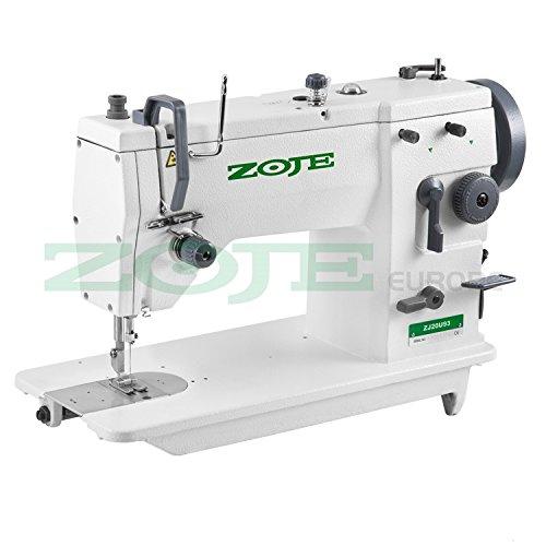 Máquina de coser industrial ZOJE – Zigzag y punto recto – Máquina de coser industrial – Completo (con mesa y estructura)