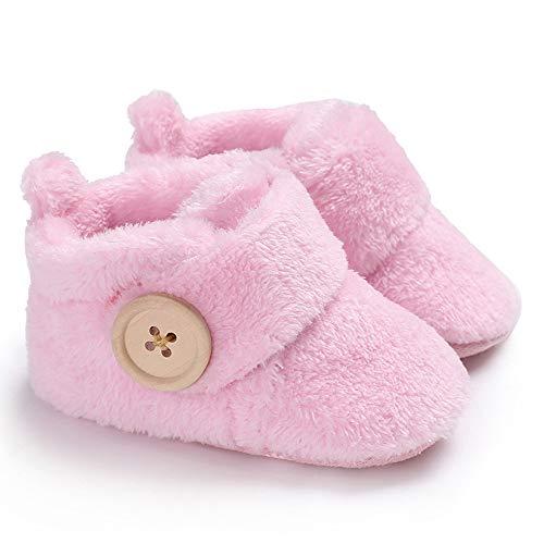 Sisttke Schneeschuhe Baby Jungen Mädchen Lauflernschuhe Winter Warme Stiefel für Neugeborene 0-18 Monate