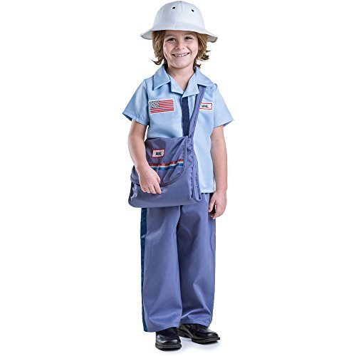 Dress Up America Mailman Costume for Kids - Mail Carrier Postman Costume for Boys Blue
