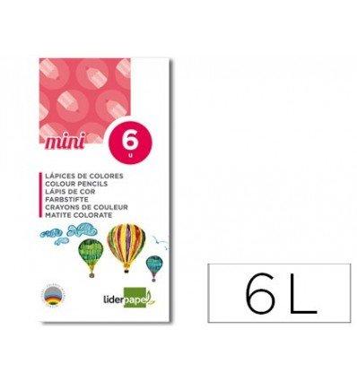 Liderpapel - Lc10 Pack De 6 Lápices Mini