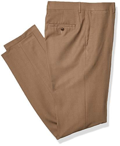 Haggar Repreve ECLO Herrenhose, Stretch, kariert, einfarbig, einfarbig - Braun - 33W / 30L