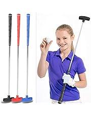 Golf Putter para Niños Junior de Acero Inoxidable Golf Putter Grips 31 Pulgadas Mini Caucho Head Cabeza de Putters de Golf para Niños 3-5 6-8 9-12 Años
