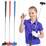 Golf Putter para Niños Junior de Acero Inoxidable Golf Putter Grips 31 Pulgadas Mini Caucho Head Cabeza de Putters de Golf para Niños 3-5 6-8 9-12 Años(Rojo)