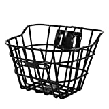 VORCOOL Cesta de la bici Cesta de alambre frontal para manillar de bicicleta de montaña Basket, Bastidor de carga para bicicleta de niños
