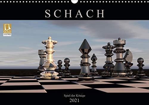 SCHACH - Spiel der Könige (Wandkalender 2021 DIN A3 quer)