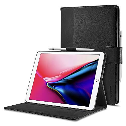 Spigen Stand Folio Kompatibel mit iPad Air 3 (10,5 Zoll, 2019) / iPad Pro 10,5 (2017) Hülle - Schwarz