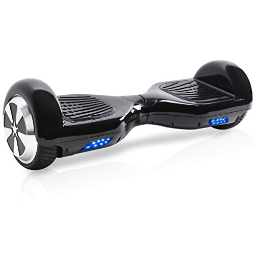 "TOEU Hoverboard, 6.5"" Self Balance Scooter mit Bluetooth Lautsprecher, 2 * 250W Motor, LED Lights, Elektro Scooter (Black)"