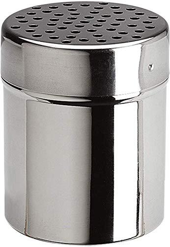 Sgualie Käsestreuer aus Edelstahl, ideal für Zucker, Salz, Puderzucker, Mehl, Schokolade, Cappuccino, Kakao