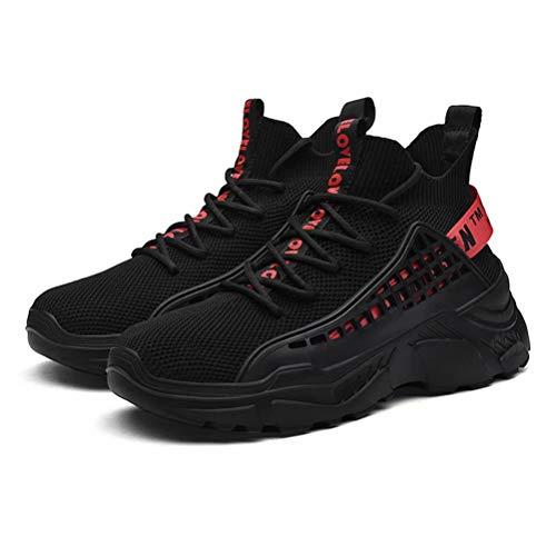 FUSHITON Zapatillas Altas Hombre Zapatillas Casual Calzado Deportivo Moda Sneakers Zapatos Antideslizantes Transpirable Cómodo Deportivas