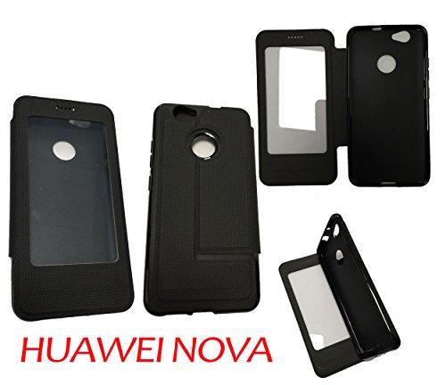 Case-Industry Mobilefashion Custodia Protettiva Case Cover per Huawei Nova - Esterno Modello Noir Royal Collection Exception Cuoio PU