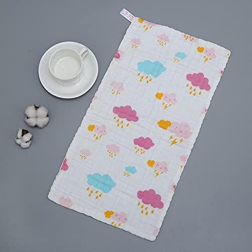 RVSDB Pañuelo de 6 capas para bebé, colorido para niños, toalla para la cara del bebé recién nacido, baberos, toalla de alimentación para niños (color 7)