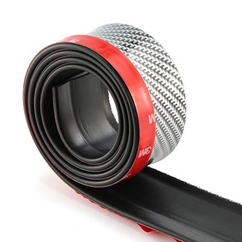 ONEVER Universal Autoaufkleber Lippe Rock Beschützer Kohlefaser Auto-Frontlippe Stoßstange Auto-Gummistreifen 2,5 m / 8,2 ft