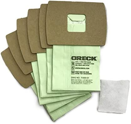 Oreck Genuine XL Buster B Canister Vacuum Bags PKBB12DW Housekeeper Bag 6 Pack 6 Pack With Motor product image