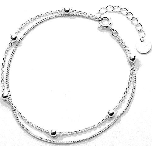 MSTOT S925 Silber Armband Weiblichen Japanischen Und Koreanischen Wind Einfache Einfache Perlenkette Doppelt Verglaste Armband Studentin Armband