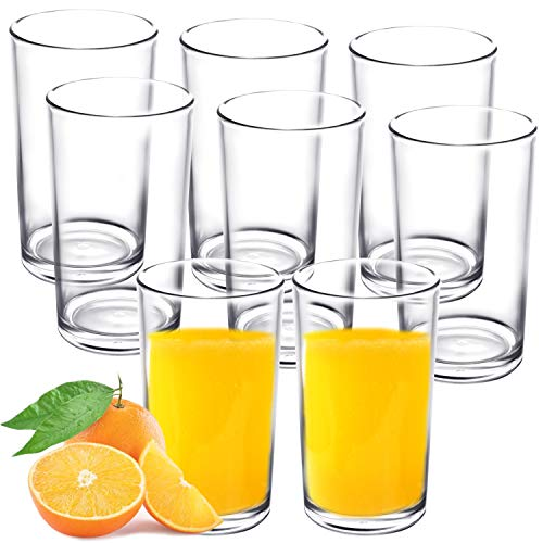 Youngever 9 Pack 9ounce Premium Quality Plastic Drinking Tumblers Plastic Glasses Reusable Plastic Cups Unbreakable Glasses Drinking Glasses