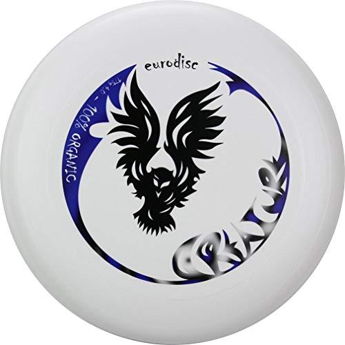 New Games - Frisbeesport Eurodisc 4.0 175g Ultime Frisbee 100% Organic Plastic Creature Blanc