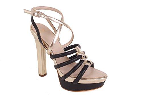 Versace Damen Pumps Highheels Riemchensandalen Schwarz/Gold BS21 (36)
