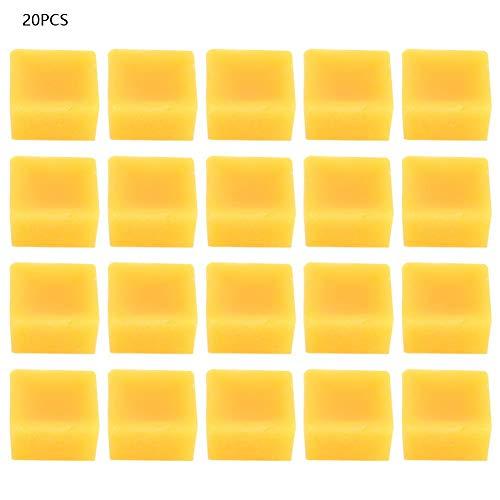 20 stks gele bijenwas blok food grade natuurlijke bijenwas accessoires materiaal voor het maken van handgemaakte zeep, lippenstift, kaars, solide aromap .(#1)