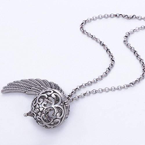 Halskette Qin Yinzhu Engelsflügel Halskette Kristallparfüm Ätherisches Öl Aromatherapie Schmuck-Goldenes Klavier Soundball Set