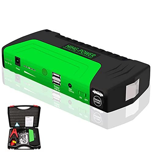 Mantenería de cargador de batería portátil de inicio de salto de automóvil, cargador de batería portátil inteligente automotriz compatible con 12V para camión de aut