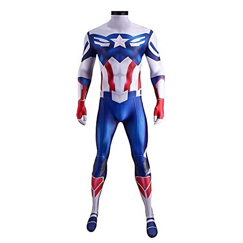 MODRYER Bambini Adulti Costumi Cosplay Falcon Winter Soldier Body Captain America Tuta Supereroe Onesies Cosplayer Fan Abbigliamento,Normal-Kids/XL 145~155cm