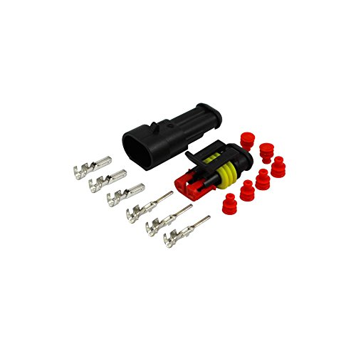 AMP Superseal Stecker Set 2 polig 1,5-2,5 mm² KFZ Elektrik Steckverbinder Sortiment Wasserdicht