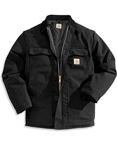 Carhartt Men's Arctic Quilt Lined Duck Traditional Coat C003,Black,Large