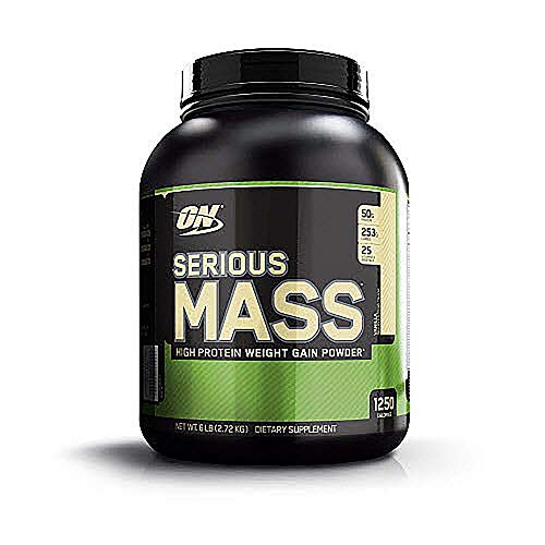 Optimum Nutrition Serious Mass Weight Gainer Protein Powder, Vitamin C, Zinc and Vitamin D for Immune Support, Vanilla, 6 Pound (Packaging May Vary)