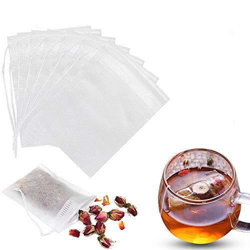 Disposable Tea Filter Bags Empty Cotton Drawstring Seal Filter Tea Bags