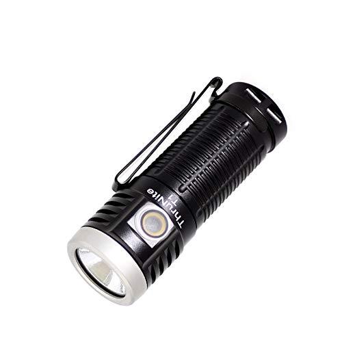 ThruNite (スルーナイト)T1 LEDハンディライト懐中電灯 USB充電式 小型軽量EDCフラッシュライト CREE XHP50 LED搭載 明るさ最大1500ルーメン/照射距離最大102メートル/IPX-8防水/磁気テールキャップ付き/無段階調光モードあり 1100mAh 18350バッテリー付属 アウトドア・山登り・自転車・夜釣りなどに大活躍 黒 CW