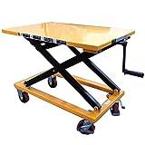 Piattaforma elevatrice a pantografo semplice manuale regolabile carrello con piano di sollevamento fisso elevatore a forbice mm.950x600 h.max.440/1000 tavolo sollevatore Kg.300 NP30RF