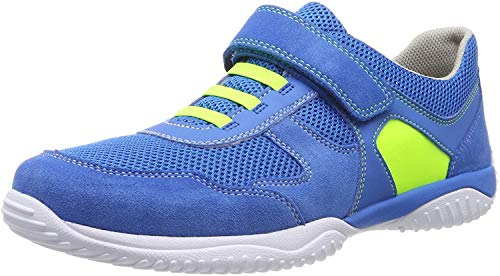 Superfit Jungen Storm Sneaker, Blau (Blau/Gelb 81), 35 EU