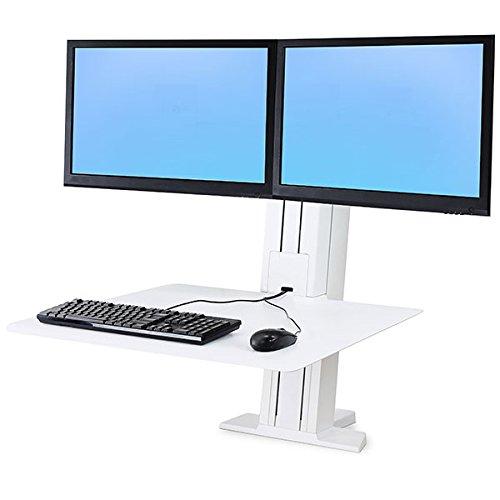 WorkFit-SR Dual Sit-Stand Workstation, White - Ergotron 33-407-062