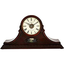 Howard Miller Andrea Mantel Clock 635-144 – Hampton Cherry Home Decor with Quartz, Dual-Chime Movement