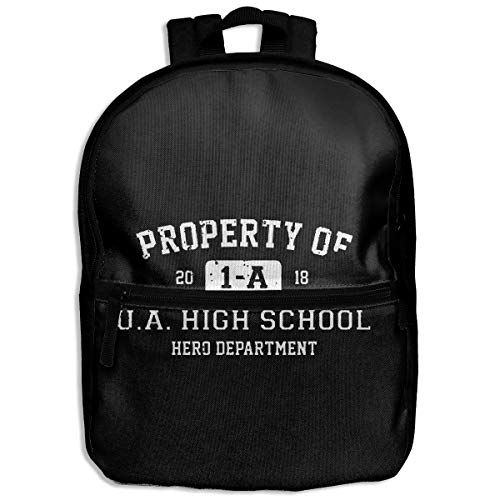 Kinder-Rucksack Property Of 1-A U.A. High School My Hero Schulrucksack für Wandern, Reisen, Studenten, Tagesrucksack für Jungen und Mädchen