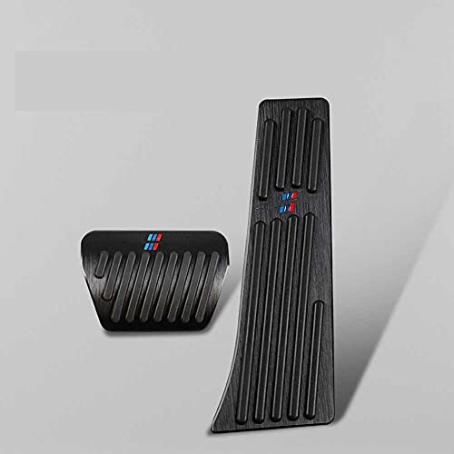 NIUASH Copri Pedali per Auto 2pc Copri Pedali per acceleratore Copri Piastra per pastiglie Freno, Adatti per BMW Serie 1 3 5 E84 E83 E90 E60 E91 E92 E87 F30 G30 X5 X4 F20