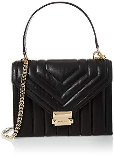 Women Clothing 100% Lamb Leather Michael Kors Shoulder 30F8GXIL3T - 001 Black Handmade