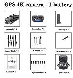 FairOnly Sg906 Pro Drone 4k HD Caméra Gimbal Mécanique 5g Système WiFi GPA Prend en Charge Le Vol de Carte TF 25 Min Rc Distance 1.2 km Sac de Voyage Jouets