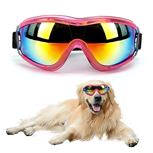 Outamateur Dog Sunglasses Dog Goggles Pet Glasses Pet Eyewear with Adjustable Strap for Travel...