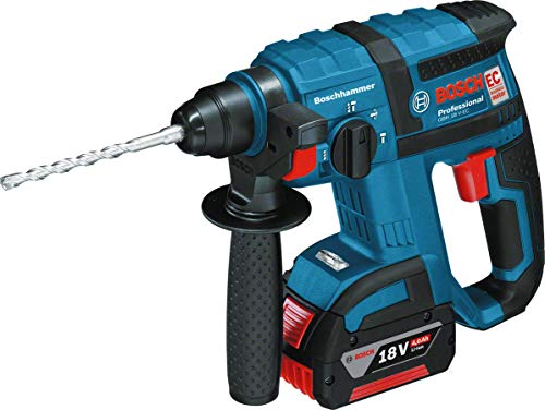 Bosch Professional GBH 18 V-EC Cordless Rotary Hammer Drill with 18 V 5.0 Ah Lithium-Ion Batteries - L-Boxx