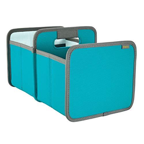 meori Faltbox Mini Doppel in Azurblau – Kleine Klappbox mit Griffen – Geschenkidee und Allzweck Aufbewahrungslösung - A100671 - 16,5 x 25,5 x 15 cm