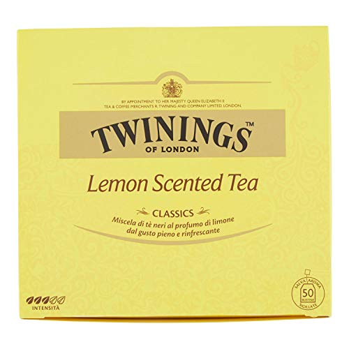 Twinings Tè al limone Lemon Scented Tea Classic, 50 Bustine
