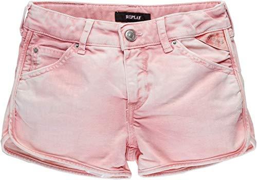 Replay Mädchen SG9599.050.8005240 Shorts, Rosa (Pink 561), 176 (Herstellergröße: 16A)