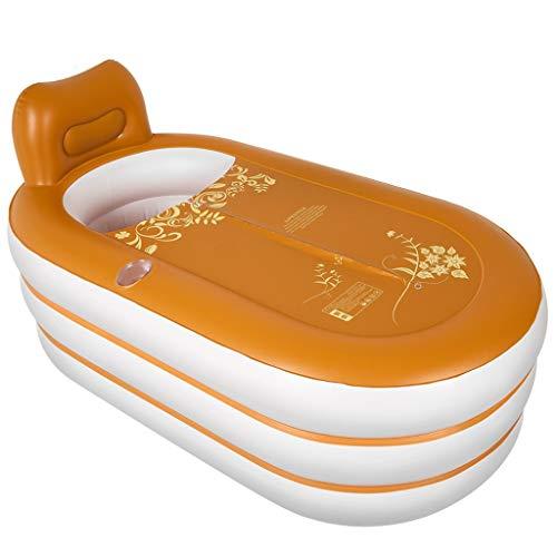 NXYJD Bañera Plegable portátil de la bañera Inflable for Adultos SPA Baño Adulto Bomba eléctrica de PVC