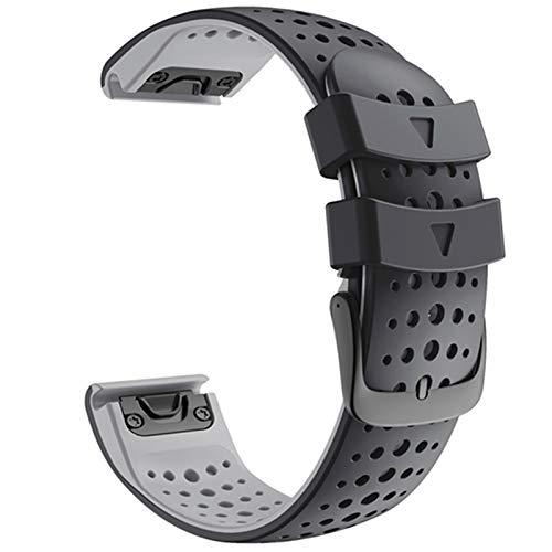 ZHONGGOZZ Strap de Reloj de Reloj de Silicona de 22 mm para Garmin Fenix 6X Pro Watch EasyFit Muñequera Correa de muñeca para Fenix 6 Pro Smartwatch