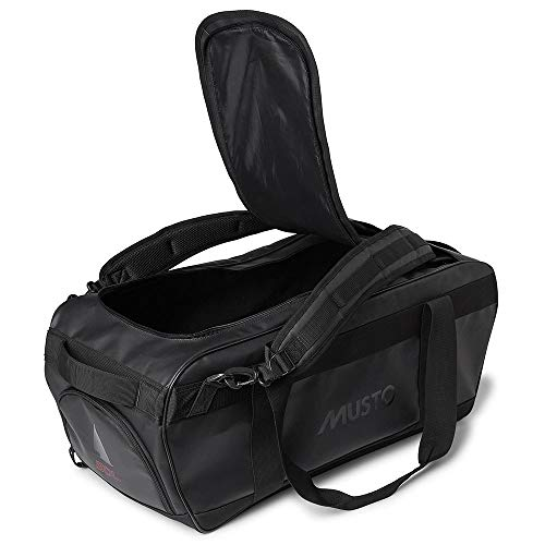 Musto 50L 50 Litre Capacity Duffel Bag - Black - Unisex - Large U-shaped opening into main compartment